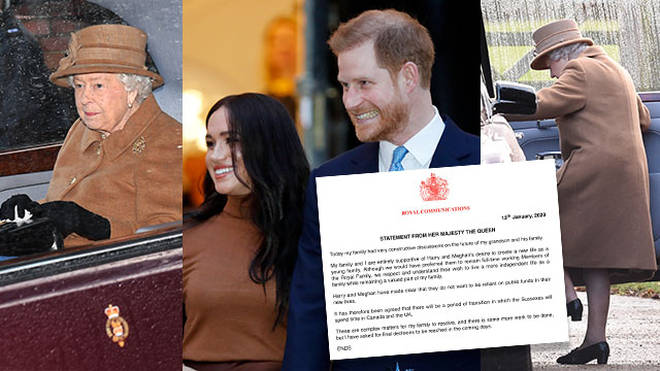 The Queen breaks silence on Prince Harry and Meghan Markle's royal exit