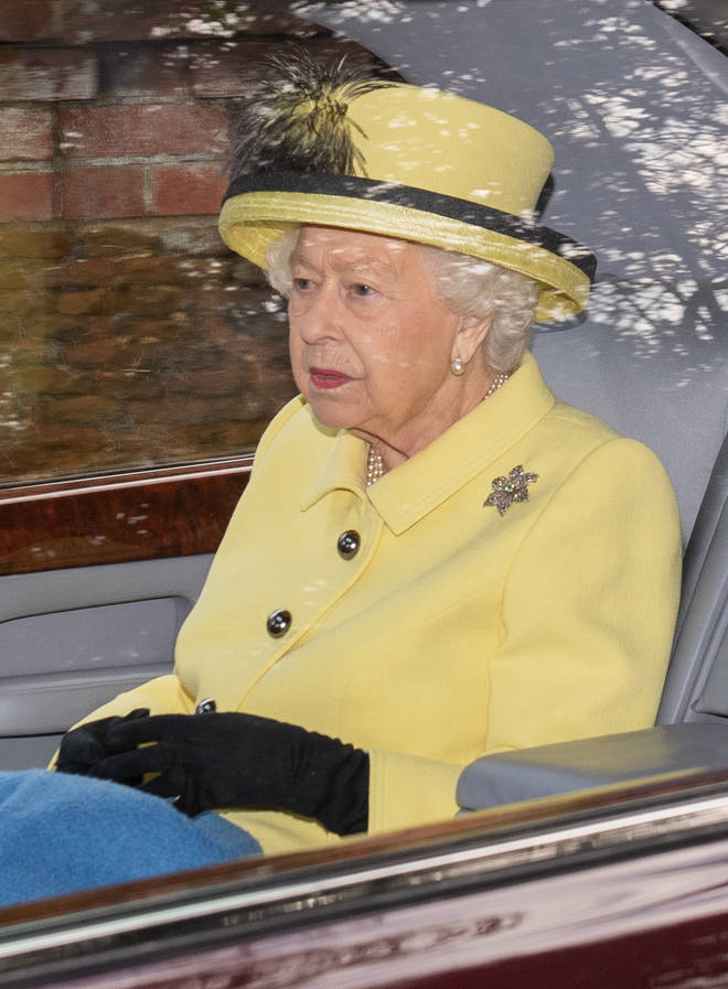 The Queen attended a royal summit today at Sandringham with Prince Charles, Prince William and Prince Harry