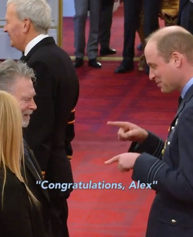 Prince William congratulated Alex Duguid in sign language