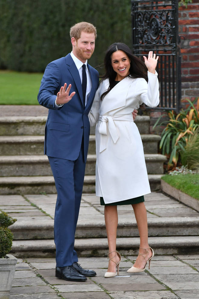 Meghan and Harry announced their engagement and later stepped out for official pictures