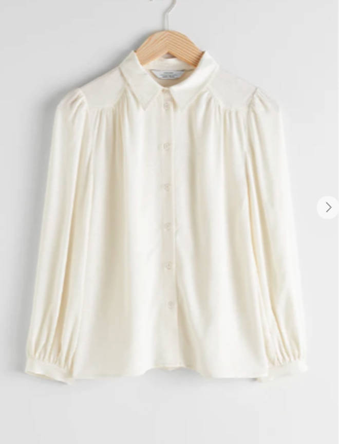 Holly's blouse is £45 from & Other Stories