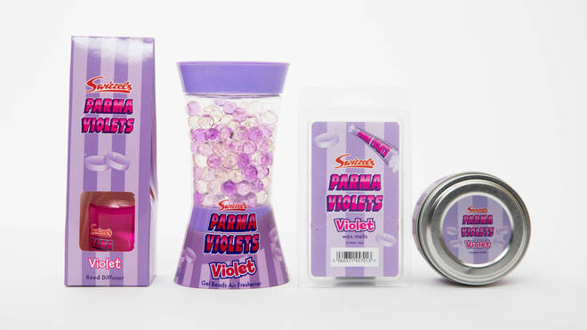 One of the available scents is Parma Violet