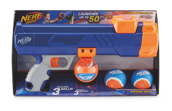 The 'Nerf Dog' has got great reviews and retails at only £10.99