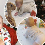 Stacey Solomon wants to 'burst into tears' as baby Rex, seven months, starts crawling