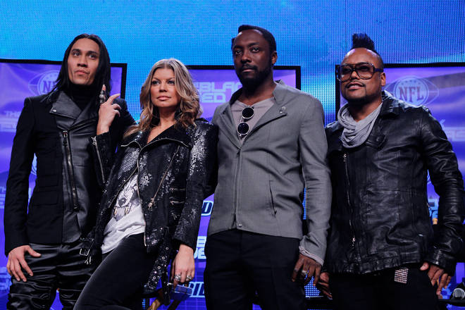 The Black Eyed Peas in full, Taboo, Fergie, will.i.am and apl.de.ap pictured in 2011