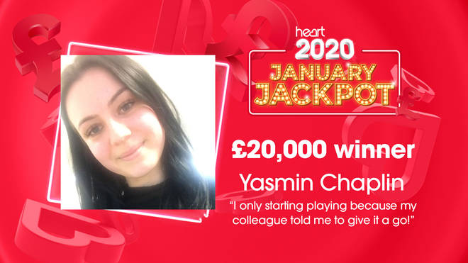 Yasmin ended her Friday afternoon by winning £20,000!
