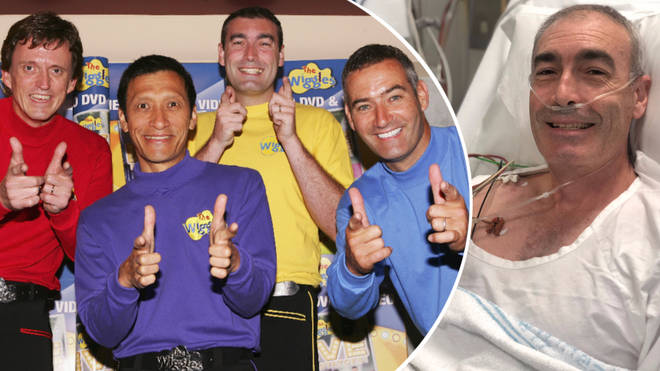 The Wiggles star Greg Page collapsed on stage at a bushfire relief show.