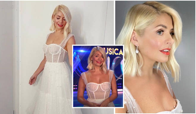 Holly Willoughby looked incredible in her Dana Harel gown