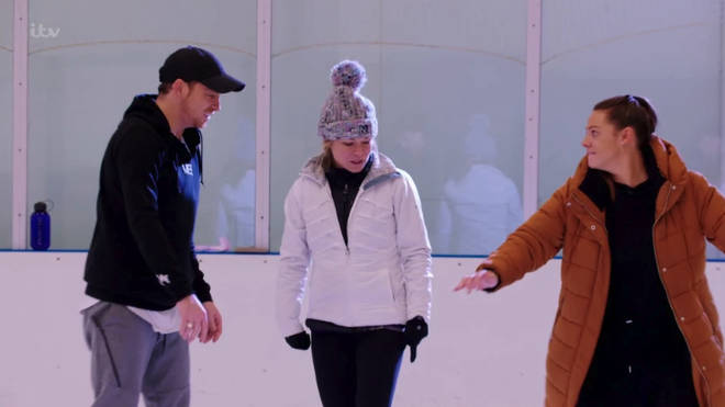 Joe and Shana battled it out on the ice