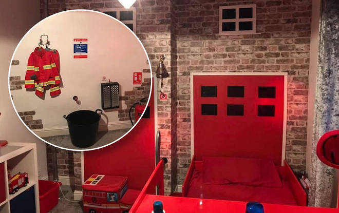 The incredible red bedroom looks seriously realistic