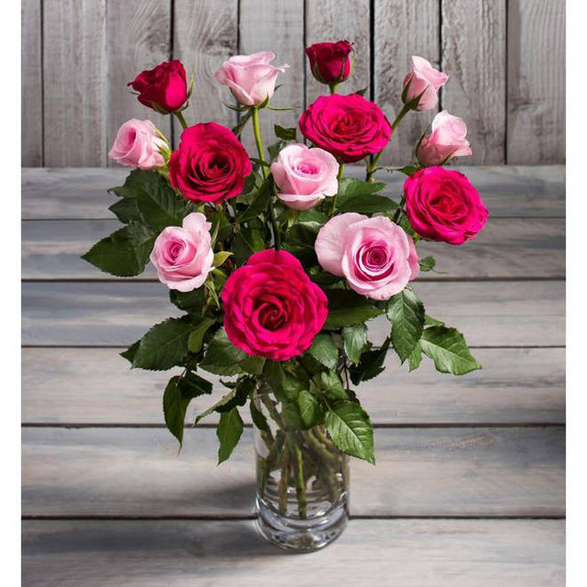 Morrison's is selling pink and red roses for £6