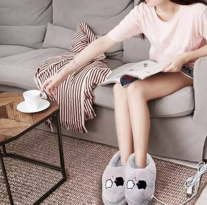 The cute slippers are perfect for those who always complain about being cold