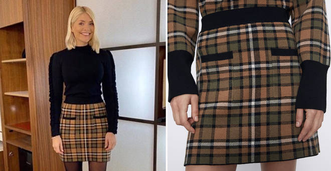 Holly Willoughby's This Morning outfit today: How to get her £19.99 checked mini skirt from Zara