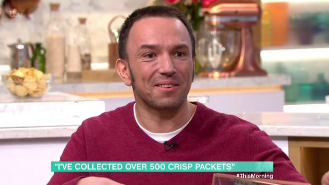 Henry has been collecting crisp packets since he was a child