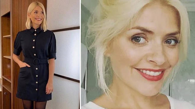 Holly Willoughby is wearing an amazing black dress today