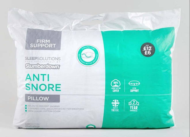 This anti-snore pillow won't set you back much - it's worth a try!
