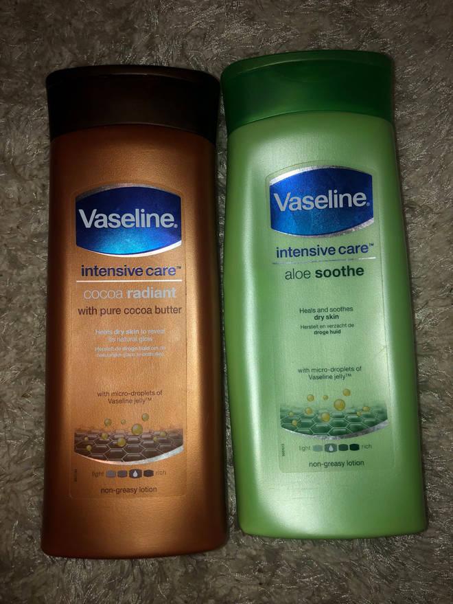 Fleur suggests people purchase these Vaseline moisturiser