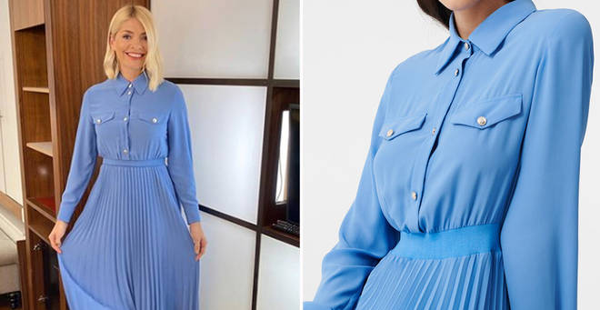 Holly Willoughby's This Morning outfit today: How to get her £290 denim shirt dress from Maje Paris