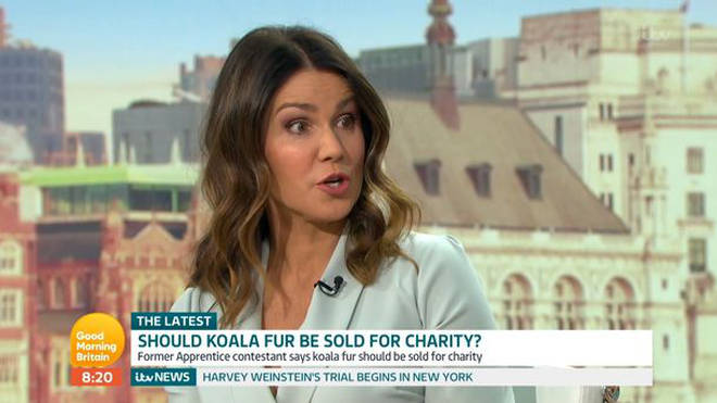 Susanna Reid was shocked by his claims