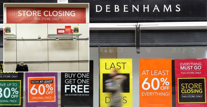 Debenhams is closing 22 stores across the country
