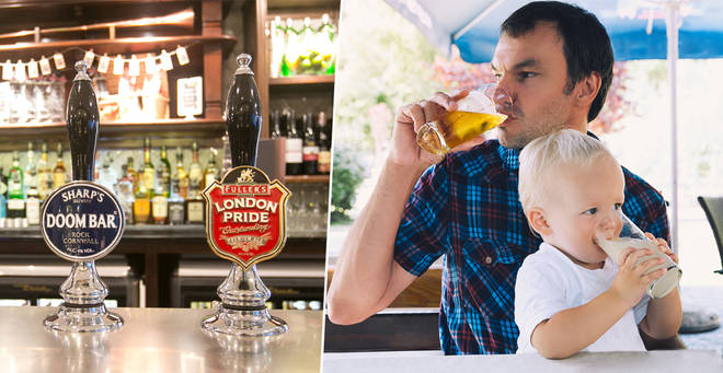 Weatherspoons has banned parents from drinking more than two alcoholic drinks