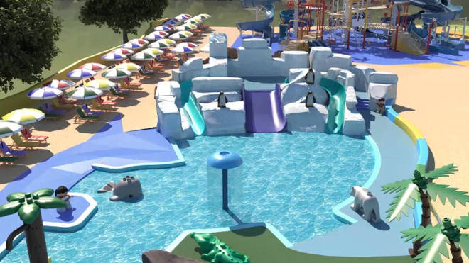 The water park is suitable for kids between two and 12