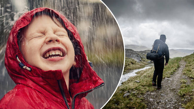 Britons have been braced for rain this weekend (stock images)