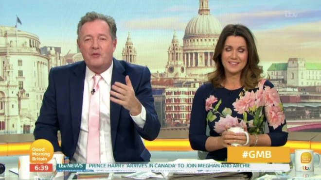 Piers appeared to mock the Chinese language and accent