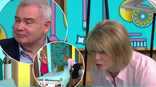 Ruth Langsford was told to squat while making the bed