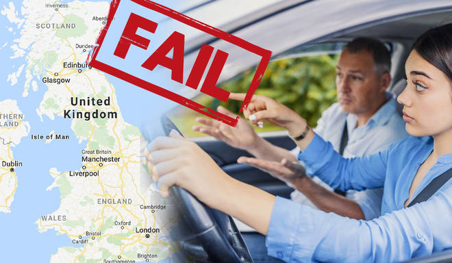 These are the worst places in the UK to take your driving test