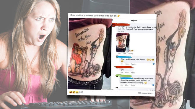The woman unveiled her shocking tattoo on social media