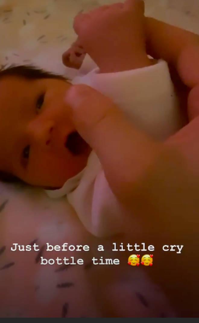 Jack Fincham's baby daughter Blossom