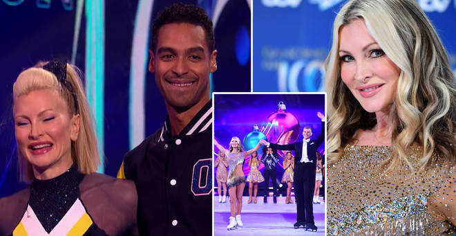 Caprice returned to Dancing On Ice with her new skating partner tonight