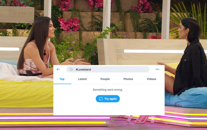 Twitter crashes during Love Island due to 'overcapacity' leaving fans frustrated