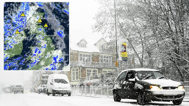 Snow could hit the UK today