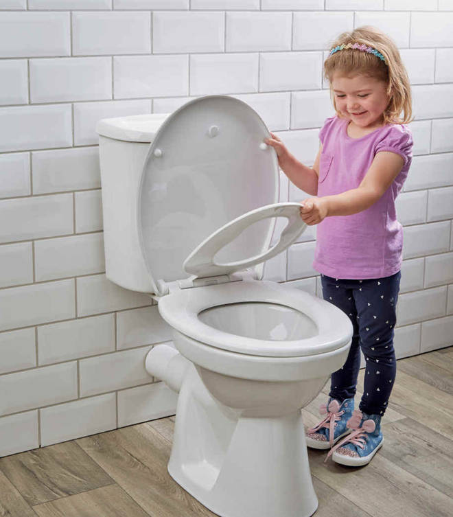 The Family Toilet Seat, online and in stores for only £14.99, is a simple device which allows you to change the seat from adult size to child size