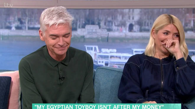 Phil and Holly were left in hysterics by the X-rated chat