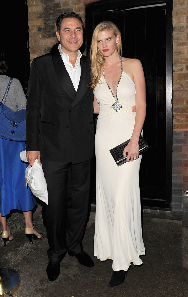 David and ex-wife Lara Stone pictured in 2014