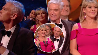 Viewers brand Phillip Schofield and Ruth Langsford's 'staged' NTA exchange 'frosty' following fallout