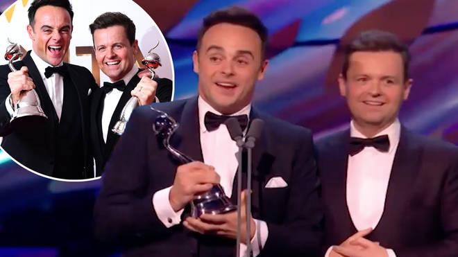 Ant and Dec won 'best presenter' again at the NTAs