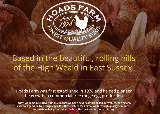 The Hoads Farm website states the following