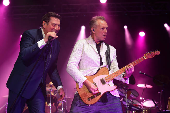 Tony Hadley and Gary Kemp pictured in 2015 before the singer quit the band
