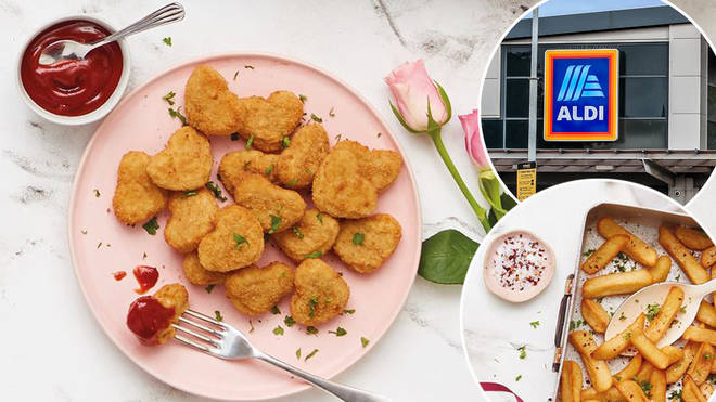 Aldi is selling heart shaped nuggets