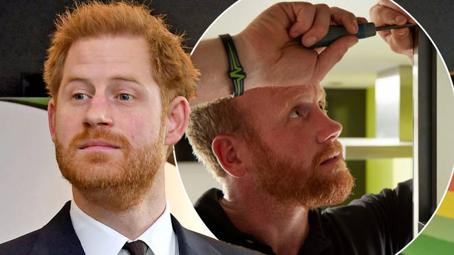 The actor, who also has ginger hair, has a striking resemblance to the Duke of Sussex