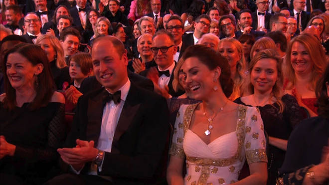 Kate and William awkwardly laughed at the BAFTAs