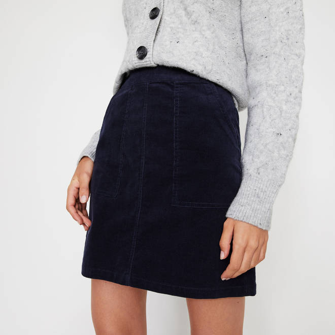 Holly's skirt is from Warehouse