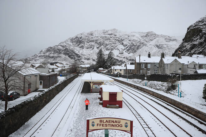 Blaenau Ffestiniog in Snowdonia experienced snowfall last week, and it can't be ruled out again