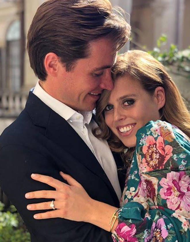 Beatrice and Edo announced their engagement news in September 2019