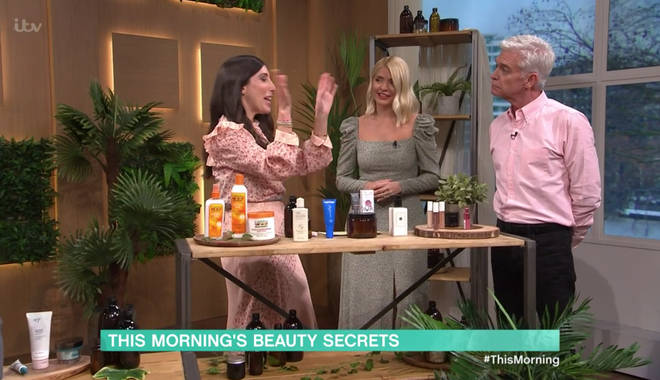 Holly said she uses the lotion every morning to soothe her eyes