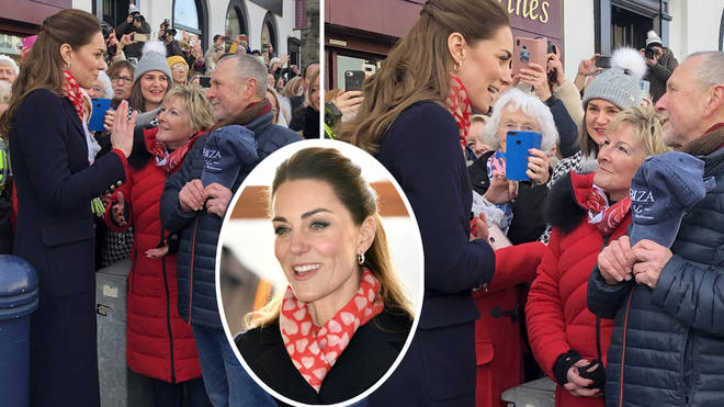 Kate Middleton looked delighted to be reunited with her primary school teachers
